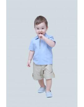 Rövid ujjú ing + gumis derekú rövid nadrág