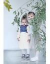Lány pliszírozott szoknyás ruha