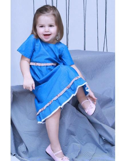 Little bloomy blue ruha